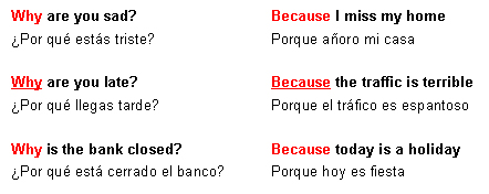 Preguntas con Why, when