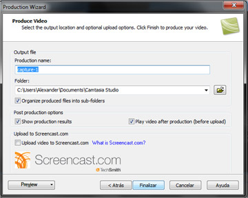 Grabar video en camtasia 1