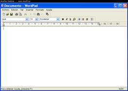 ventana de documento wordpad. Computacion