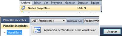Aplicacion de windwos. Visual basic