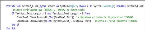 Combobox en visual basic 7