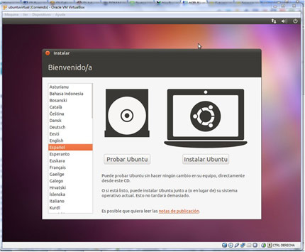 Instalar Ubuntu. PC 16
