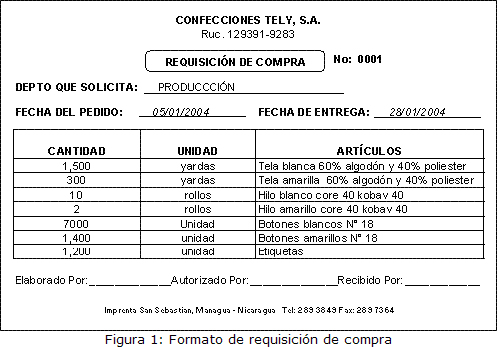 Departamento de compra formatos de requisici n y orden de for Manual de compras de un restaurante pdf