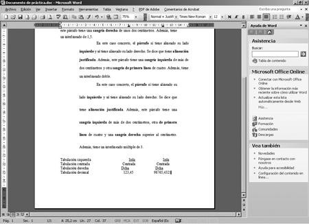 Word 2003 interlineado y tabuladores for En word cual es el interlineado