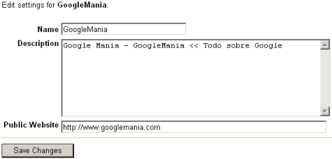 Crear un Google Groups
