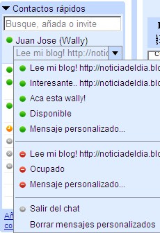 Chat en Gmail