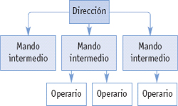 Organigrama de empresa. modelos